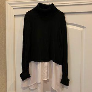 Women's Style&Co black turtleneck size XL.